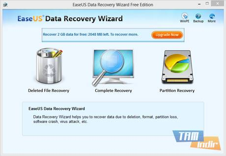 Aflaai EASEUS Data Recovery Wizard Free Edition